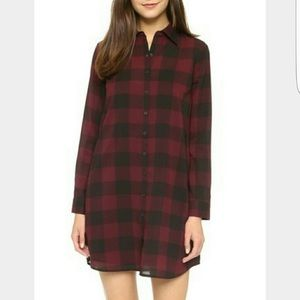 BB Dakota Small Buffalo Plaid Shirt Dress Tunic